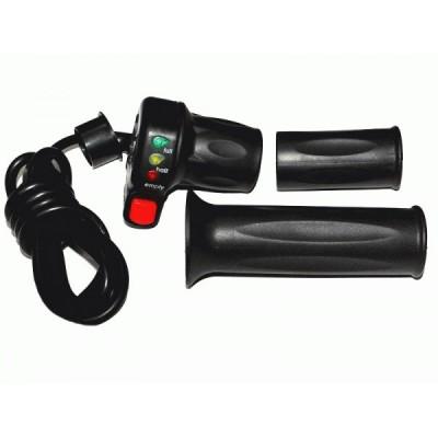 Ручка газа со светодиодным индикатором заряда на 24v и кнопкой круиз-контроля Elvabike.com