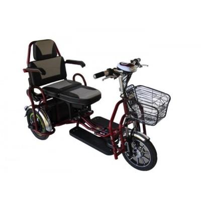 Электроскутер трехколесный складной Elvabike Комфорт Elvabike.com