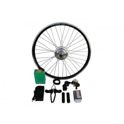 Полный электронабор с усиленным мотор-колесом 36v350w в ободе 16' - 28' и литий ионной АКБ 36v12.5Ah Elvabike.com