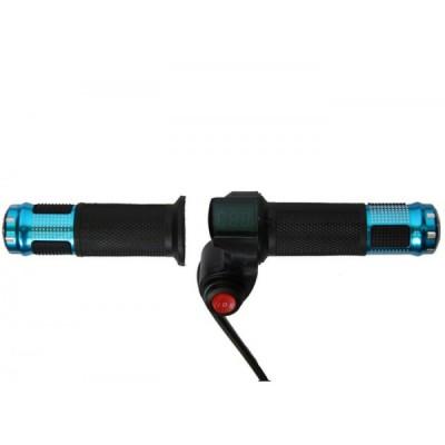 Ручка газа с вольтметром и переключателем передач Elvabike.com