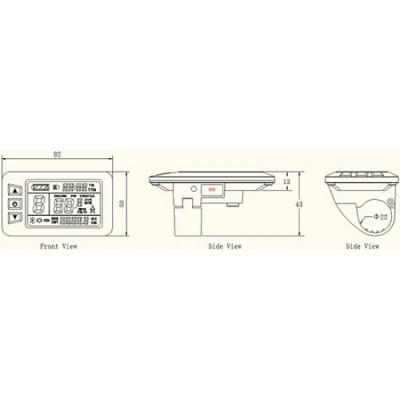 Дисплей LCD-7U+USB  для контроллеров KUNTENG на 24v,36v,48v Elvabike.com