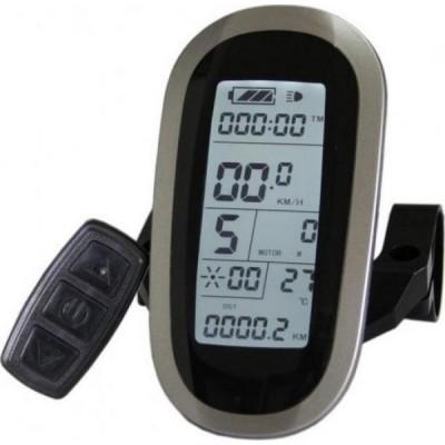 Дисплей LCD-6U+USB  для контроллеров KUNTENG на 24v,36v,48v Elvabike.com
