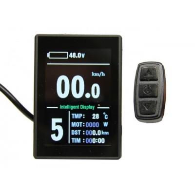 Дисплей LCD-8H+USB для контроллеров KUNTENG на 24v, 36v, 48v Elvabike.com