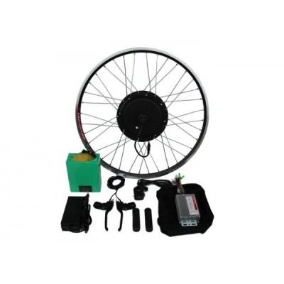Полный электронабор с мотор-колесом 1000/2000w в ободе 20'- 28' и литий ионной АКБ 48v12.5Ah Elvabike.com