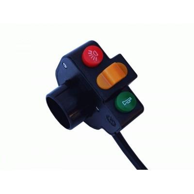 Пульт включения света, звукового сигнала, поворотов. Elvabike.com