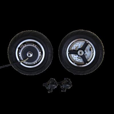 Электронабор: заднее мотор-колесо Elvabike 48v800w(1600w) в  ободе 10', переднее колесо 10' и дисковые тормоза Elvabike.com